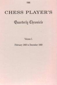 This is the product image for The Chess Player's Quarterly Chronicle V1. Detail: Fiala, V. Product ID: 8071894176.   Price: $19.95.