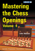 This is the product image for Mastering the Chess Openings Volume 4. Detail: Watson, J. Product ID: 9781906454197.