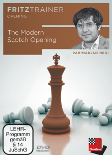 This is the product image for The Modern Scotch Opening. Detail: 1 D4 OPENINGS. Product ID: 9783866814325.   Price: $29.95.