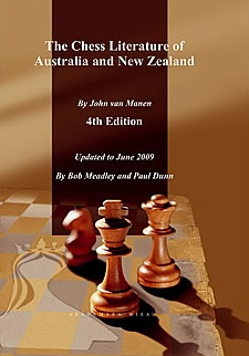 This is the product image for The Chess Literature of Australia and New Zealand. Detail: van Manen, John. Product ID: 9788674664193.