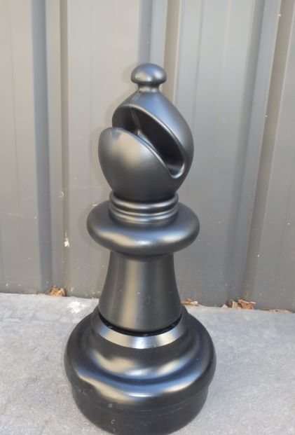 This is the product image for Large Giant Chess Bishop Black. Detail: XTRAS. Product ID: GCHESSBB.