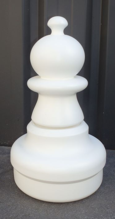 This is the product image for Large Giant Chess Pawn White. Detail: XTRAS. Product ID: GCHESSPW.