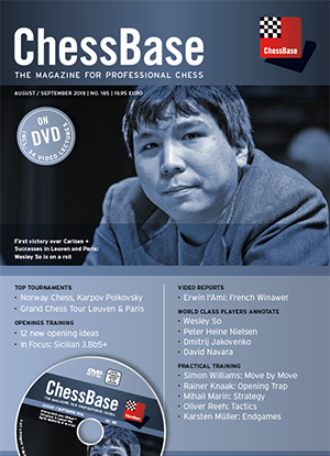 This is the product image for ChessBase Magazine 185. Detail: CB MAGAZINES. Product ID: CB185.