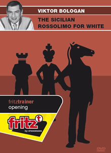 This is the product image for Sicilian Rossolimo for White. Detail: 1 E4 OPENINGS. Product ID: CBFT-BOSRDVD.   Price: $29.95.