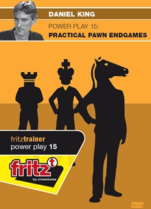 This is the product image for Powerplay 15 Pawn Endgames. Detail: CB POWERPLAY. Product ID: CBFT-KMP15DVDE.
