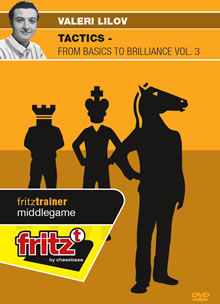 This is the product image for Tactics - From Basics to Brillianve Volume 3. Detail: FT OPENING. Product ID: CBFT-LMT3EDVD.   Price: $29.95.