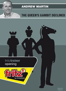 This is the product image for Queen's Gambit Declined. Detail: 1 D4 OPENINGS. Product ID: CBFT-MOQGDVD.   Price: $29.95.