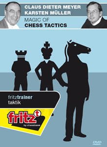 This is the product image for Magic of Chess Tactics. Detail: DVD. Product ID: CBFT-MTMCDVDE.