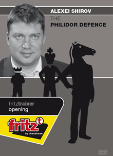 This is the product image for The Philidor Defence. Detail: 1 E4 OPENINGS. Product ID: CBFT-SOPDDVD.   Price: $19.95.