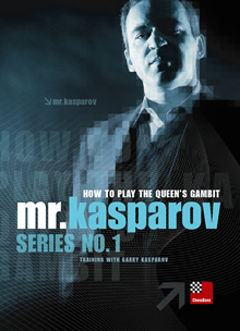 This is the product image for Kasparov Queen's Gambit DVD. Detail: 1 D4 OPENINGS. Product ID: CBOT43.   Price: $39.95.