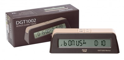 This is the product image for Digital Chess Clock/Timer: DGT 1002 Bonus Timer. Detail: CLOCKS. Product ID: DGT1002.