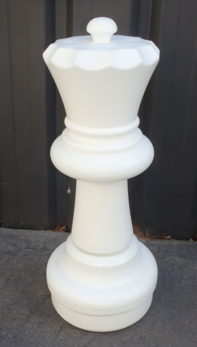 This is the product image for Large Giant Chess Queen White. Detail: XTRAS. Product ID: GCHESSQW.