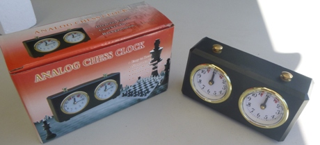 This is the product image for Chess Clock Analogue. Detail: CLOCKS. Product ID: PCC.