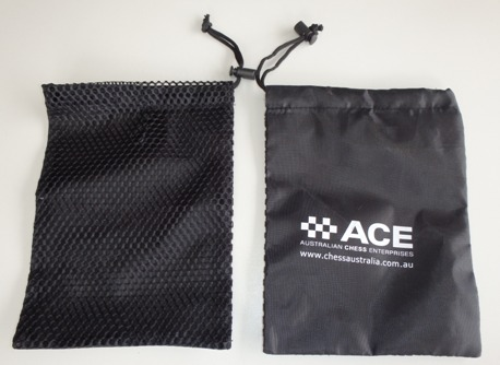 This is the product image for Chess Bag - drawstring. Detail: CHESS_BAGS. Product ID: PCSB.
