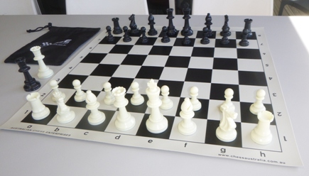 This is the product image for School Chess Set Special. Detail: PLASTIC. Product ID: PCSBLACK.