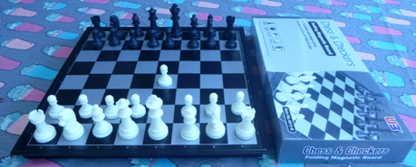 This is the product image for Magnetic Chess Set and checker. Detail: TRAVELLING. Product ID: TCS2.