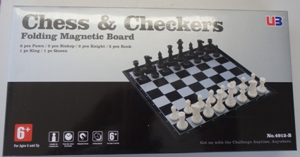 This is the product image for Magnetic Chess and checkers. Detail: TRAVELLING. Product ID: TCS3.