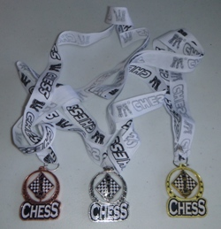 This is the product image for Chess Spin Medal. Detail: GIFTS. Product ID: ZCHESSMEDAL2.