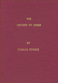 This is the product image for The History of Chess. Detail: Forbes, D. Product ID: 8071895563.