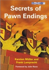 This is the product image for Secrets of Pawn Endings. Detail: Muller & Lamprecht. Product ID: 9781904600886.