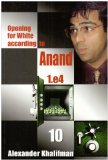 This is the product image for Opening White Anand V10. Detail: Khalifman, A. Product ID: 9789548782647.