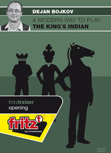 This is the product image for The King's Indian. Detail: 1 D4 OPENINGS. Product ID: CBFT-BOMKIDVD.