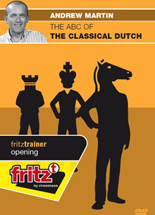 This is the product image for ABC of Classical Dutch. Detail: 1 D4 OPENINGS. Product ID: CBFT-MOCDEDVD.