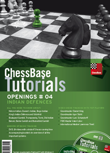 This is the product image for Tutorials Openings #4 Indian Defences. Detail: DVD. Product ID: CBT-4EDVD.