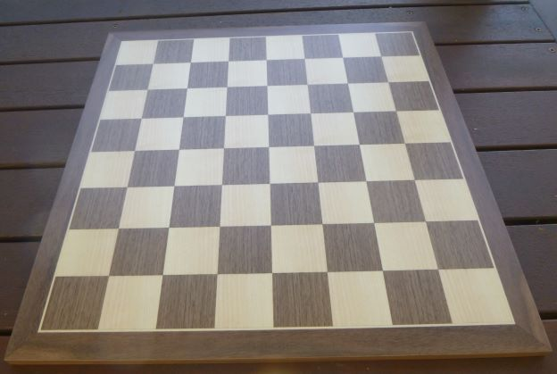 This is the product image for Walnut Board (Standard 50/450). Detail: CHESS BOARD -WOODEN. Product ID: NSP50450.