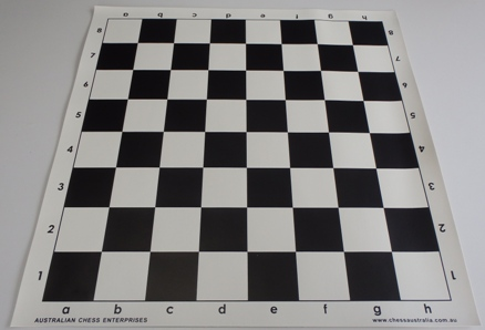 This is the product image for Chess Board - Black vinyl. Detail: CHESS BOARD- VINYL. Product ID: PCB4BL.