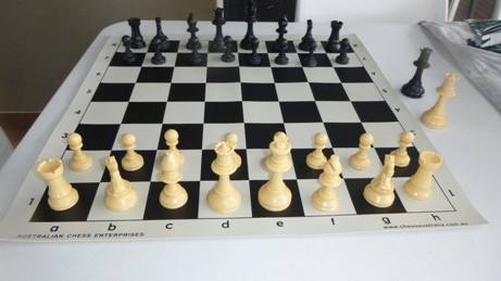 This is the product image for Standard Chess Pieces (Cream). Detail: PLASTIC PIECES. Product ID: PCS1.